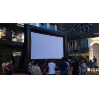 China Outdoor Inflatable Movie Screen Removable Portable Air Projector Screen factory