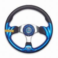 China PU Steering Wheel of 13-inch Diameter, Various Colors are Available factory