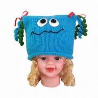 China Hand Crochet Knitted Hat/Animal Hat/Frog-shaped Hat for Children, OEM Orders are Welcome factory