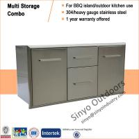 Buy cheap BBQ Outdoor Kitchen Island Stainless Steel Door/Propane Drawer Combo 42 Inch from Wholesalers
