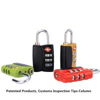 Buy cheap Three - Digit TSA Combination Padlock Mini Type For Travel Goods from Wholesalers