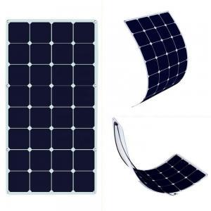 China Photovoltaic Thin Flexible Solar Panels SunPower 12v-18V 100-120w Easy Installation factory