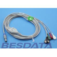 Buy cheap 1.5m Creative Compatible ECG Cables And Leadwires Snap Sensor Type from Wholesalers