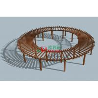 Buy cheap Prefabricated Composite Round Prefab Pergola Kits , Recyclable 100% Large Pergola Kits from Wholesalers