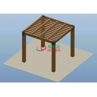 Buy cheap Square Wood Plastic Composite Pergola High Grade UV Resistance 2.7m * 2.7m * 2.7m from Wholesalers