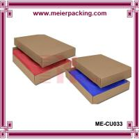 China Kraft Two-Piece Apparel Boxes 11 1/2 x 5 1/2 x 1 1/2, Apparel Gift Boxes/Clothing Paper Box  ME-CU033 on sale