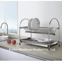 Buy cheap Free Standing 2 Tier Stainless Steel Kitchen Dish Rack With Draining Plate Holder PT-DR002 from Wholesalers