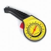 China Car Tire Pressure Gauge in White/Yellow Color, Sized 68 x 22 x 38cm factory
