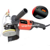 "China 220v 1400W M14 4"" electric stone wet polisher variable speed hand grinder water mill with 8 units 4"" wet polishing pad factory"