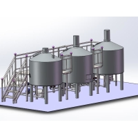 Buy cheap 1000L 2000L stainless steel fermentation beer brewery equipment micro brewing from wholesalers