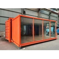 China Electric 20hc Expansion Container House With Rock Wool Insulation Board on sale