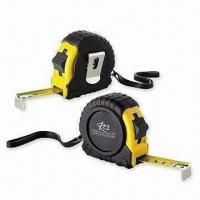 Buy cheap Steel Measuring Tapes, Made of ABS Case and Black Rubber, Available in Various Colors from Wholesalers