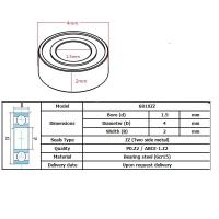 Buy cheap High quality 681XZZ  ball bearings motor bearings 681XZZ (1.5 *4* 2MM) High-speed from Wholesalers