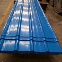 China 0.426mm blue color single steel 840mm corrugated roofing sheets 5 meters for factory factory
