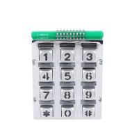 China Chinese manufacture 3X4 matrix die casting mold backlight keypad/keyboard with blue led on sale