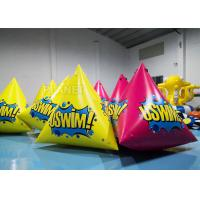 China 2.5m Inflatable Water Floating Marker buoys With Logo Yellow / Pink factory