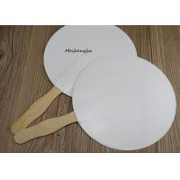 China Creative White hard paper Japanese wood Hand Fan Folk Art Style With Erasable Surface on sale