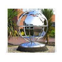Buy cheap Metal World Globe Map Stainless Steel Sculpture For Public Decoration from Wholesalers