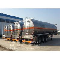 Cylindrical Shape Fuel Tanker Trailer Single Compartment 45m3 Aluminum Alloy