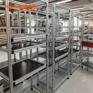 China anodized aluminum profile bracket for 6mm, 8mm, 10mm slot profile & workshop workbenc aluminum I bracket factory