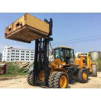 China Large Capacity 15 Tons Articulated Forklift Rough Terrain Fork Truck 6 Cylinders on sale
