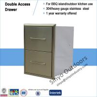 """Buy cheap 15"""" BBQ ISLAND 304 STAINLESS STEEL BUILT-IN DOUBLE 2 DRAWER from Wholesalers"""