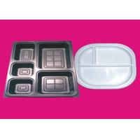Quality Environmentally Friendly Vacuum Thermoforming Products 2 Compartment Food Tray for sale