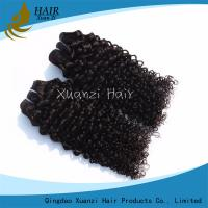 Curly Loose Wave Virgin Human Hair Extensions 7A 100% Virgin Hair Long Lasting