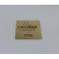 China Square Metal Lables OEM Metal Label Metal Gifts and Crafts factory