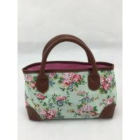Large Capacity Canvas Tote Bag With PU Carrying Handles Inner Phone Pockets