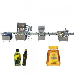 China 10-40 bottles/min Honey Filling Machine , Stepping Motor Edible Oil Filling Machine factory