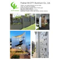Buy cheap Cnc Aluminum Sheet Fence , Perforated Aluminum Metal Fence Panels Architectural Aluminum Cladding from Wholesalers