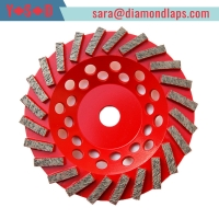 """China 7"""" inch #30/40 Turbo Segment Diamond Cup Grinding Wheel for Concrete grinding factory"""