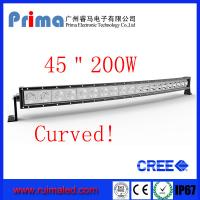 Buy cheap 45 200W Curved Led Light bar-Cree Single Row Led Light Bar from Wholesalers