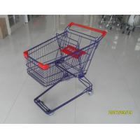 Quality Durable 75 L Grocery Store Shopping Carts Colorful Treatment Coating for sale