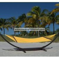 Buy cheap Indoor Otdoor Room Large Yellow Tight Weave Hammock With Wood Spreader 55 Inches Wide from Wholesalers