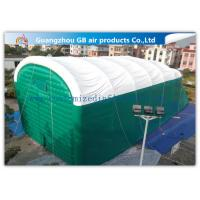China 0.9mm Pvc Tarpaulin Green Inflatable Air Tent For Family Outdoor Events factory