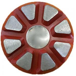 China Velcro backed 8 segment 3 inch STI diamond grinding shoes factory