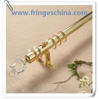 China Hot selling delicate crystal glass finials for curtain rods pipes on sale