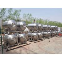 China 500L 1000L Stainless Steel Horizontal Bright Beer Tank Perfect Cleaning Condition factory