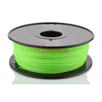 China Green 3D Printer Makerbot Filament 1.75mm 3mm ABS For 3D Printing , 1kg / Spool factory