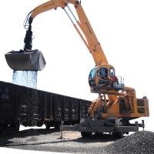 China Dual Fuel Power Generator Material Handling Machine 33T Wheeled Material Handling Equipment factory