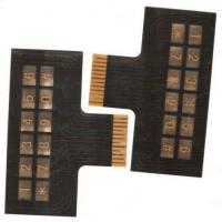 Buy cheap Keyboard Flexible PCB Board Single Layer FPC 35um CU / 20um ADH / 25um PI from wholesalers