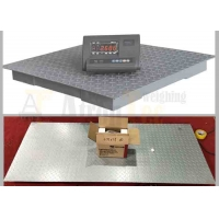 China Compact Steel Platform Floor Scale with LED Display Weighing Indicator factory