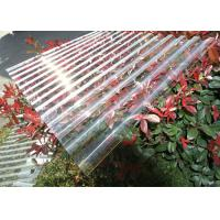 Buy cheap Thick Corrugated Perspex Roofing Sheets / Corrugated Polycarbonate Roof Panel from Wholesalers