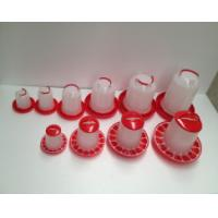 China Poultry chicken feeders and drinkers, plastic waterer drinker, commercial red cup drinker factory