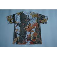 Buy cheap Round Neck Custom Printed T Shirts Full Sublimated Polyester With Camouflage from Wholesalers