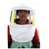 China Beekeeping Protective Clothing White Square Bee Veil Breathable With Round Type Bee Hat   For Beekeepers factory