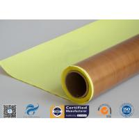 Buy cheap Self-Adhesive Tapes Brown PTFE Coated Fiberglass Fabric Sticker 1000mm Width 50 meter from Wholesalers