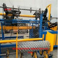 China China High Speed 2m-4m width Full Automatic Double Wire feeding Chain Link Fence making Machine factory